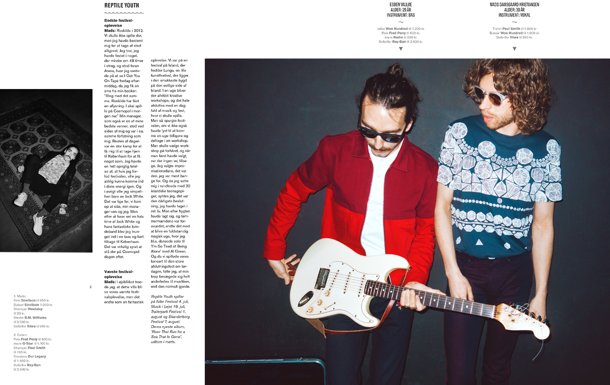 Sune Wagner, Reptile Youth & Blau Blume July 2014 – Euroman