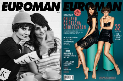 Oh Land & Helena Christensen May 2015 – Euroman